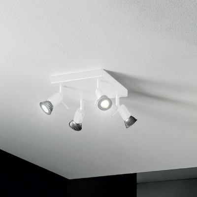 Linea Light - Spotty - Spotty - Wall or ceiling lamp with 4 adjustable lights