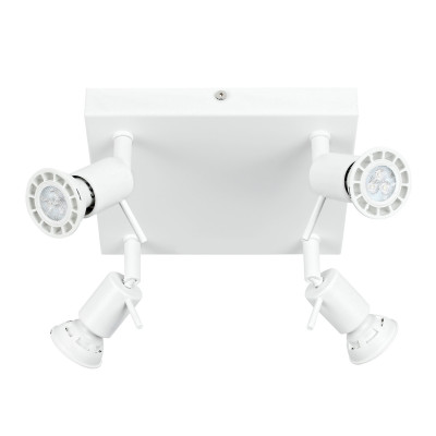 Linea Light - Spotty - Spotty - Wall or ceiling lamp with 4 adjustable lights - White - LS-LL-7343