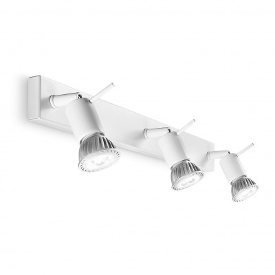 Linea Light - Spotty - Spotty - Wall or ceiling lamp with three adjustable lights - White - LS-LL-7342