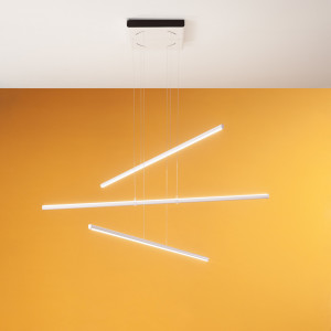 Linea Light - Straight - Straight P3 SP LED S - Modern chandelier with three lights size S
