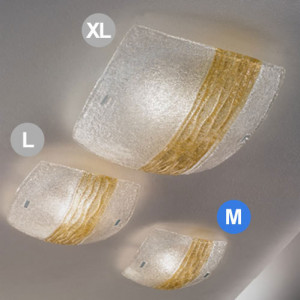 Linea Light - Syberia - Syberia crystal/amber ceiling light Syberia M