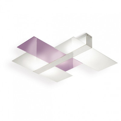 Linea Light - Triad - Triad - Modern ceiling lamp three glasses S - Lilac - LS-LL-90224