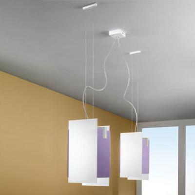 Linea Light - Triad - Triad - Pendant lamp two lights - Lilac - LS-LL-90227