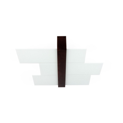 Linea Light - Triad - Triad - Walnut ceiling lamp three glasses S - Wengè - LS-LL-90230