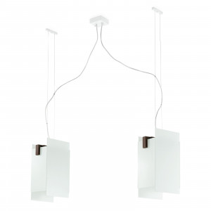 Linea Light - Triad - Triad - Walnut ceiling lamp two lights