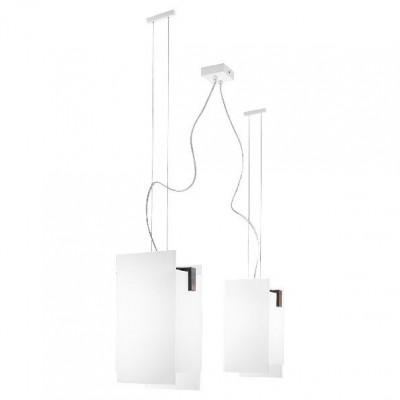 Linea Light - Triad - Triad - Walnut ceiling lamp two lights - Wengè - LS-LL-90233