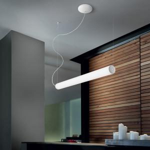 Linea Light - TU-O + TU-V - TU-O SP LED M - Suspension lamp with tubular lampshade M