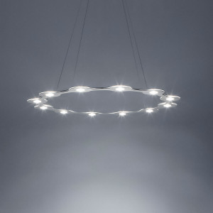 Lumen Center - Flat - Flat Ring 12 SP - Chandelier with twelve light points