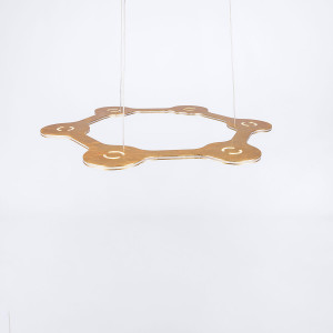 Lumen Center - Flat - Flat Ring 6 SP - Modern pendant lamp with six light points
