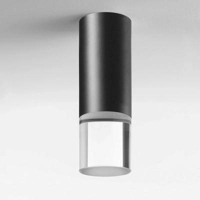 Lumen Center - Pinco & Pallino - Pallino 21 PL - Cylindrical ceiling lamp - Black - LS-LC-PAL21102 - Warm white - 3000 K - Diffused