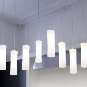 Lumen Center - Takè Plus - Také Bubble 08 SP - Pendant lamp with eight vertical elements
