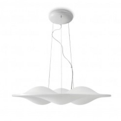 Ma&De - Circle Wave - Circle Wave - Sospension Lamp M - Satin white -  - Warm white - 3000 K - Diffused
