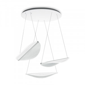 Ma&De - Diphy - Diphy P SP LED - Chandelier with three leaf-shaped elements with LED light