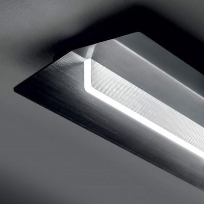 Ma&De - Flurry - Flurry S AP PL M LED - Medium rectangular applique and ceiling lamp with LED light - Black -  - Warm white - 3000 K - Diffused