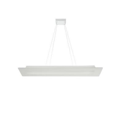 Ma&De - Square LED - Square PB SP LED - Rectangular chandelier - White - LS-LL-8510 - Warm white - 3000 K - Diffused