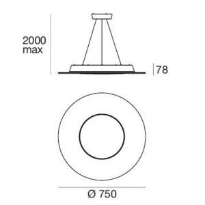 Ma&De - Square LED - Square PR SP LED M - Round chandelier size M