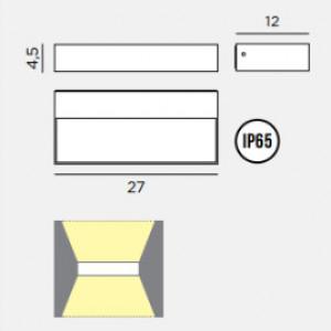 Rotaliana - Inout - InOut W2 indoor AP LED - Biemission applique
