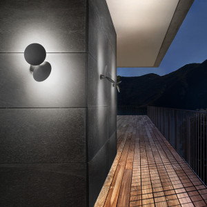 Studio Italia Design - Puzzle Outdoor - Puzzle Outdoor Double Round LED AP - Adjustable outdoor wall lamp
