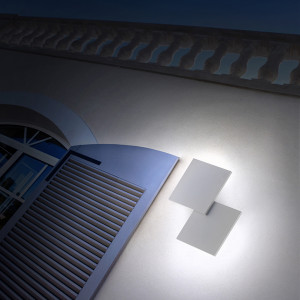 Studio Italia Design - Puzzle Outdoor - Puzzle Outdoor Double Square LED AP - Wall lamp for external facades