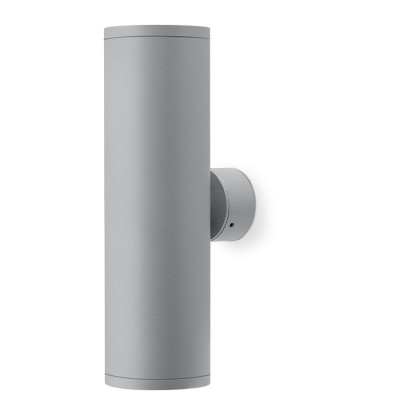 Traddel - Bi emission outdoor applique - Double 2 - Outdoor wall sconce up/down emission - Zirconium grey - LS-LL-60415