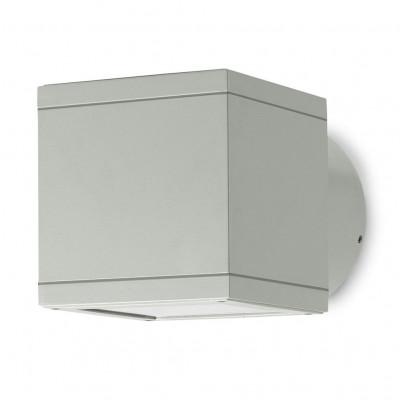 Traddel - Bi emission outdoor applique - Dual - Wall sconce asymmetric light - Aluminium grey - LS-LL-50535