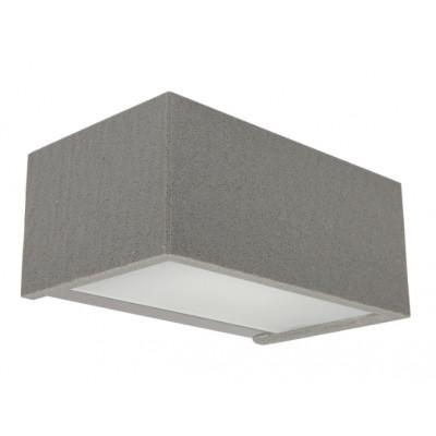 Traddel - Bi emission outdoor applique - Rock - Designer wall lamp with double light emission - Grey rock -  - Warm white - 3000 K - 120°