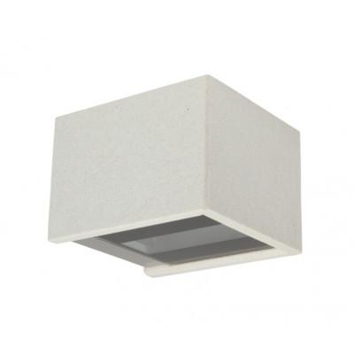 Traddel - Bi emission outdoor applique - Rock - Designer wall lamp with double light emission - White rock -  - Warm white - 3000 K - 120°