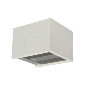 Traddel - Bi emission outdoor applique - Rock - Designer wall lamp with double light emission - White rock -  - Natural white - 4000 K - 120°