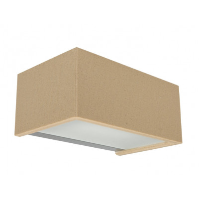 Traddel - Bi emission outdoor applique - Rock - Rectangular wall lamp double emission - Beige rock -  - Warm white - 3000 K - Diffused