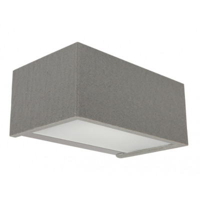 Traddel - Bi emission outdoor applique - Rock - Rectangular wall lamp double emission - Grey rock -  - Warm white - 3000 K - Diffused