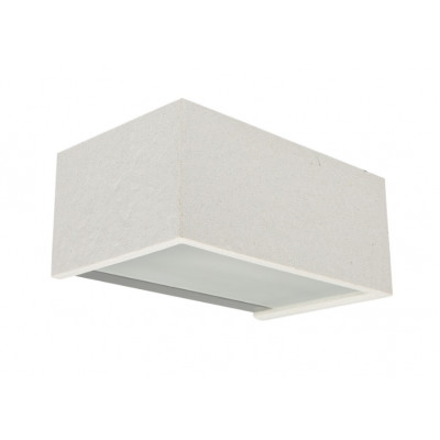 Traddel - Bi emission outdoor applique - Rock - Rectangular wall lamp double emission - White rock -  - Warm white - 3000 K - Diffused