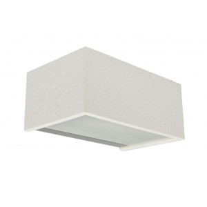 Traddel - Bi emission outdoor applique - Rock - Rectangular wall lamp double emission - White rock -  - Natural white - 4000 K - Diffused