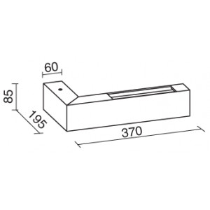 Traddel - Bi emission outdoor applique - Stalk - Up/down lighting sconce