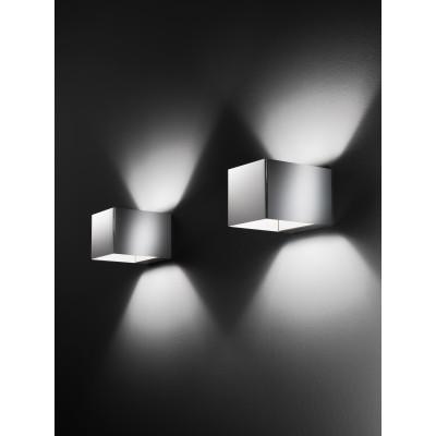 Traddel - Bi emission outdoor applique - U-Bi - Cubic wall lamp with double light emission