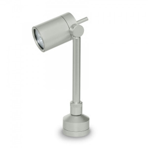Traddel - Garden lighting peg - Vision 2 - Adjustable lighting floor pole - Aluminium grey - LS-LL-51395