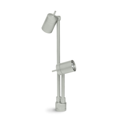 Traddel - Garden lighting peg - Vision 2 - Adjustable spotlight 2 lights - Aluminium grey - LS-LL-51475