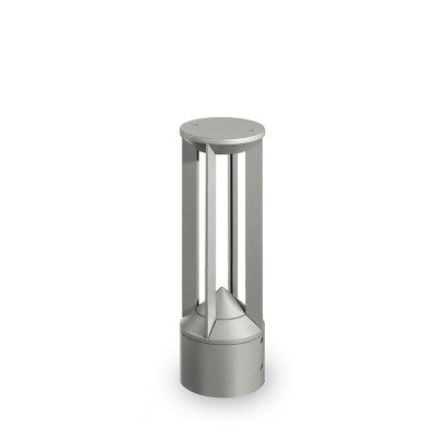 Traddel - Garden peg steplight - Pilos - Floor led pole h 400 mm - Zirconium grey -  - Natural white - 4000 K - 8-50°