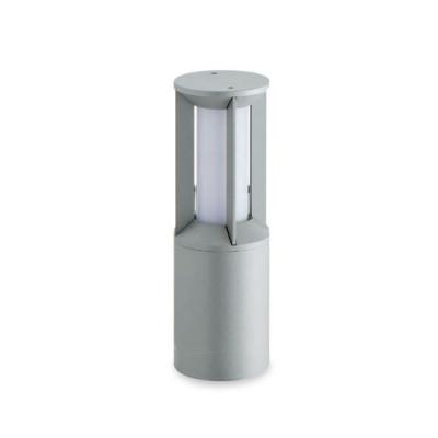 Traddel - Garden peg steplight - Pilos - Floor pole h 390 mm fluorescent - Zirconium grey - LS-LL-60025