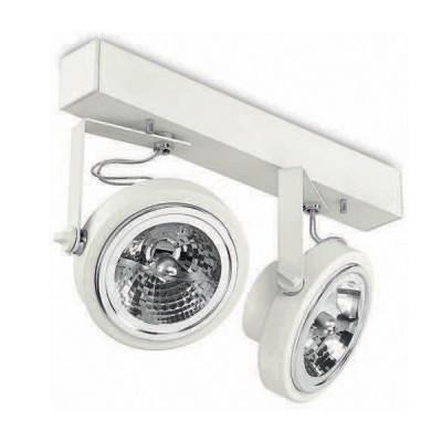 Traddel - Indoor adjustable projector - Point - 2 lights projector - Embossed white - LS-LL-59534