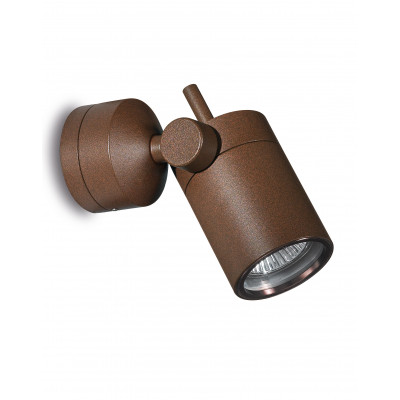Traddel - Indoor adjustable projector - Vision 2 - Adjustable spotlight S - Cor-ten steel - LS-LL-51366