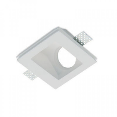 Traddel - Indoor recessed spotlights - Gypsum - Recessed light asymmetric optic - Gypsum - LS-LL-61320