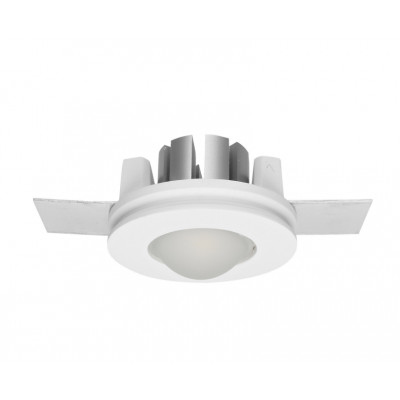 Traddel - Indoor recessed spotlights - Gypsum - Round recessed spotlight S - Gypsum -  - Warm white - 3000 K - 70°