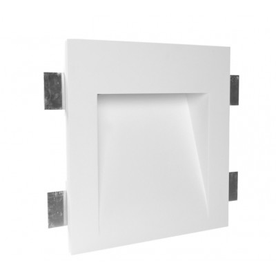 Traddel - Indoor recessed spotlights - Gypsum Wf4 FA LED - LED recessed spotlight in Gypsum - Gypsum -  - Warm white - 3000 K - Diffused