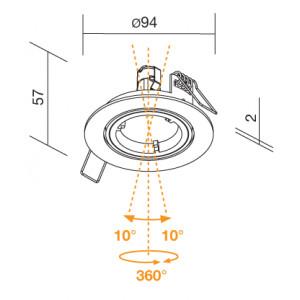 Traddel - Indoor recessed spotlights - Spot - Indoor adjustable spotlight