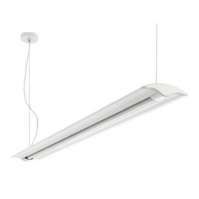 Traddel - Jeg - Office lamps - Jeg - Up/down emission pendant lamp 1260mm - White RAL 9010 - LS-LL-59084