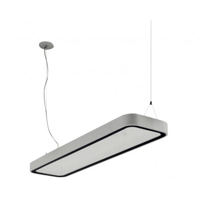 Traddel - Neox - Office lights - Neox Led - Office pendant lamp - Embossed grey -  - Natural white - 4000 K - Diffused