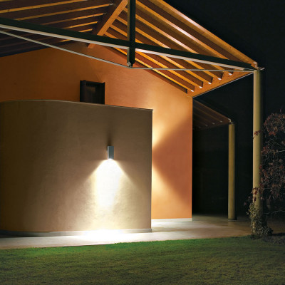 Traddel - Outdoor sconce - Dual - Wall sconce rectangular single emission