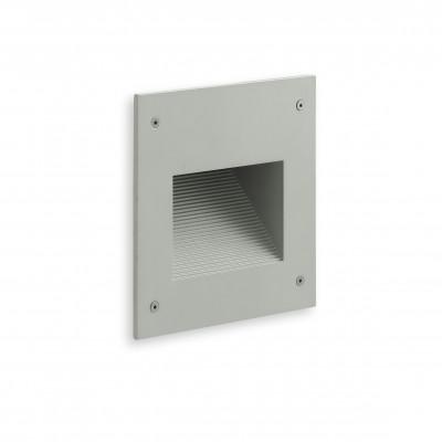 Traddel - Outdoor steplight - Insert - Recessed lamp M - Aluminium grey - LS-LL-52635
