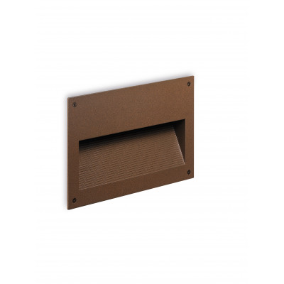 Traddel - Outdoor steplight - Insert - Recessed wall lamp L - Cor-ten steel - LS-SK-52626