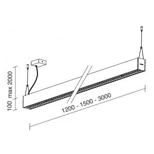 Traddel - Pendant Lamp - Profil H - Up/down emission dark-light